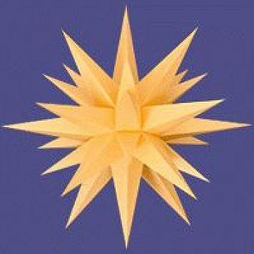Herrnhuter Stern für Innenbeleuchtung gelb 60 cm